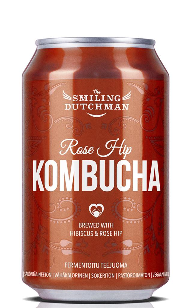 SD RoseHip Kombucha 0,33l can