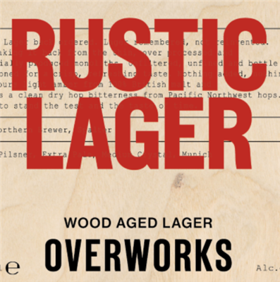 OverWorks Rustic Lager 4.5% 20l